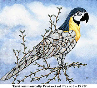 'Environmentally Protected Parrot - 1998'